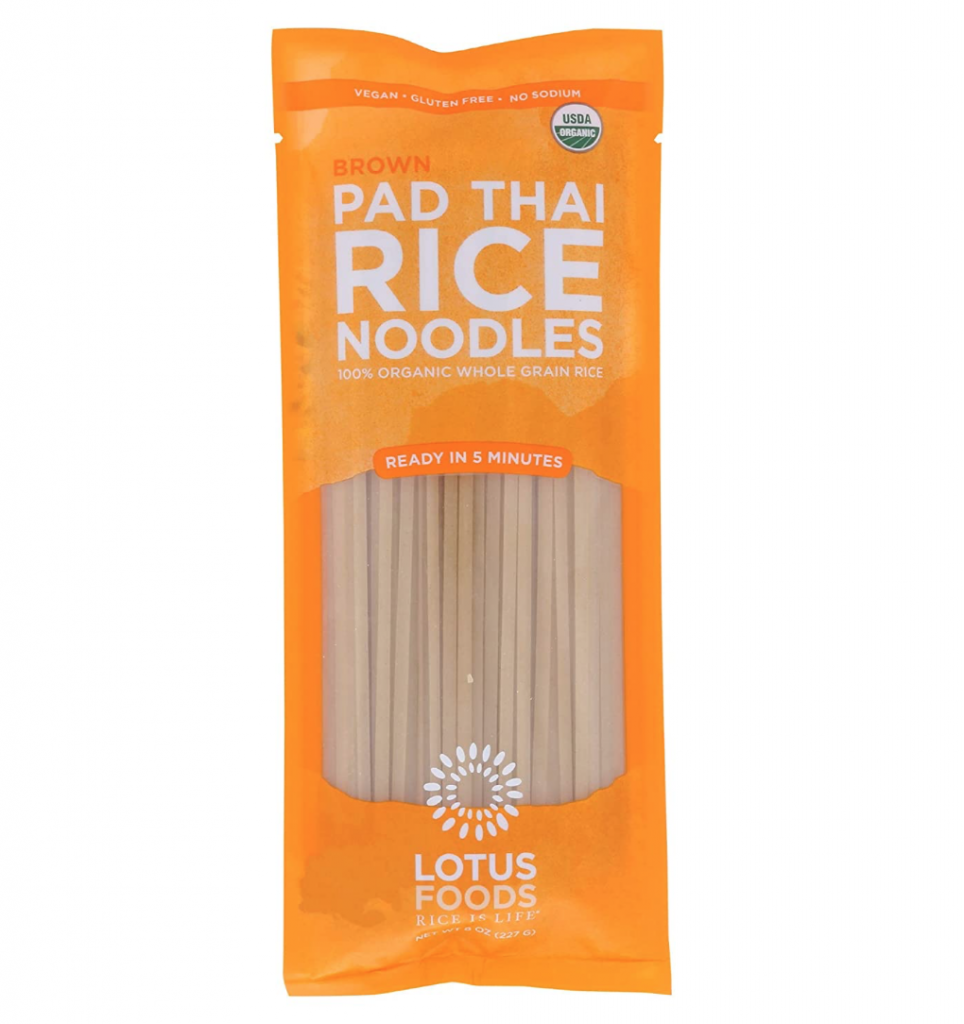 pad thai rice noodles in package