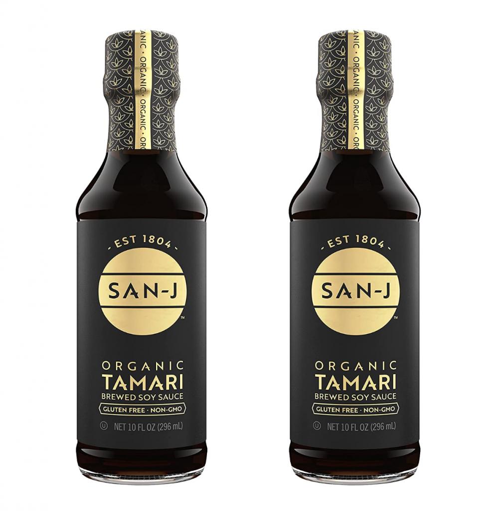 tamari bottles for 5 minute vegan pad this