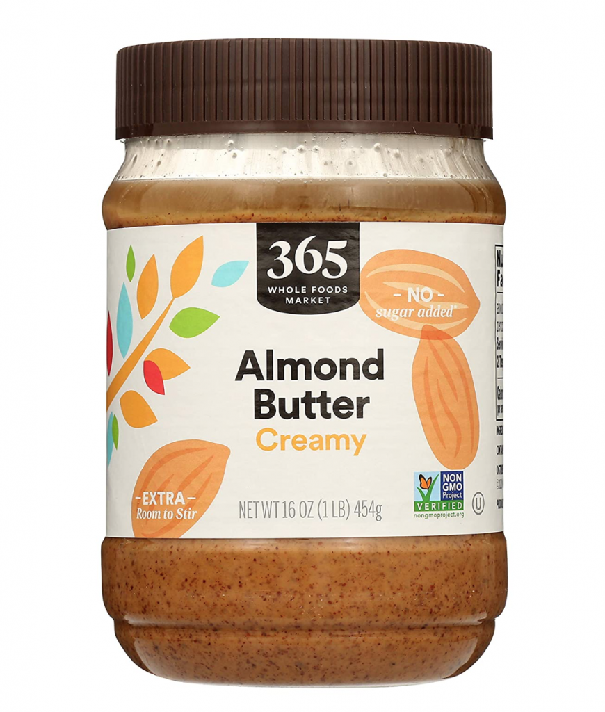 photo of almond butter in product packaging