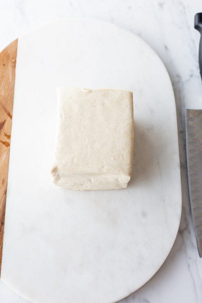 cute of tofu on a countertop